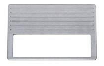 1937-38 Chevy Brushed Aluminum Radio Panel / DIN