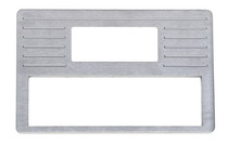 1937-38 Chevy Brushed Aluminum Radio Panel / DIN with AC Vent