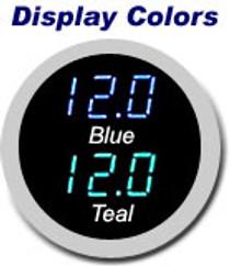 1939 Chevy Brushed Aluminum Glove Box Door w/ VFD Clock Display Color Options