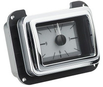 1940 Ford Car Analog Clock Silver Alloy Background