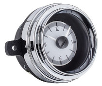 1949-50 Ford Car Analog Clock Silver Alloy Background