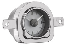 11951 Ford Car Analog Clock Silver Alloy Background
