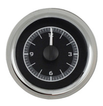 1955-56 Chevy Car Analog Clock Black Alloy Background