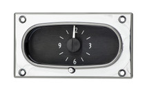 1958 Chevy Impala Analog Clock Black Alloy Background