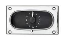 1958 Chevy Impala Analog Clock Black Alloy Background