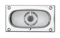 1958 Chevy Impala Analog Clock Silver Alloy Background