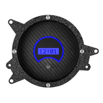 1969-1970 Ford Mustang Digital Clock Carbon Fiber and Blue