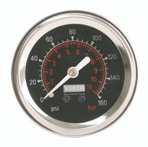 Single Needle Gauge (Black 160psi)