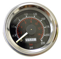 Dual Needle Gauge (Black 220psi)