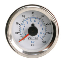 Dual Needle Gauge (White 160psi)