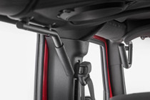 Jeep Solid Steel Grab Handles (07-18 Wrangler JK) both mounted view