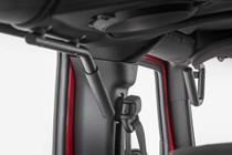 Jeep Solid Steel Grab Handles (07-18 Wrangler JK) both mounted view