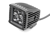 2-IN Square Flush Mount Cree LED Lights (Pair / Black Series w/ Amber DRL) side view