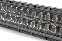 54-IN Curved Cree LED Light Bar (Dual Row / Chrome Series w/ Cool White DRL) close up view