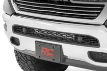 Dodge 20IN Led Hidden Bumper Kit (2019 Ram 1500)(Chrome Series w/ Amber DRL) in bumper view