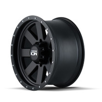 ION 134 Matte Black/Black Beadlock 17X8.5 6-120 6mm 66.90mm