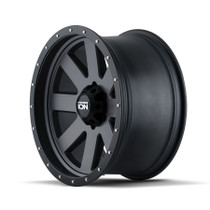 ION 134 Matte Gunmetal/Black Beadlock 17X8.5 6-120 6mm 66.90mm