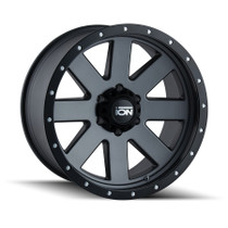 ION 134 Matte Gunmetal/Black Beadlock 17X8.5 5-127 -6mm 83.82mm