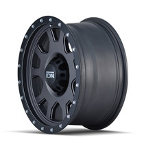 ION 135 Matte Gunmetal/Black Beadlock 17X8 5-139.7 10mm 108mm side view