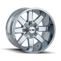 ION 141 Chrome 17X9 8-165.1/8-170 -12mm 130.8mm front view