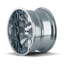 ION 141 Chrome 17X9 8-165.1/8-170 -12mm 130.8mm side view
