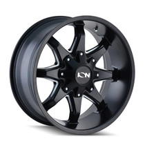 ION 181 Satin Black Milled Spokes 17X9 8-165.1/8-170 -12mm 130.8mm
