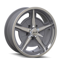 Ridler 605 Machined Spokes & Lip 17X7 5-120.65 0mm 83.82mm Front View
