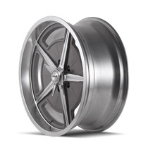 Ridler 605 Machined Spokes & Lip 17X8 5-127 0mm 83.82mm Side View