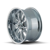 Ridler 650 Chrome 22X9.5 5-120 18mm 66.9mm side view