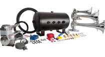 Admiral Train Horn Kit - 5 Gal Tank (Separate Tank & Compressor) - close up on tank and compressor