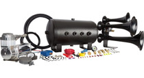Katrina Train Horn Kit - 5 Gal Tank (Separate Tank & Compressor) - compressor and tank close up