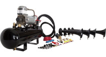 Conductors Special 2 Gal Shocker XL Train Horn Kit (Combined Tank & Compressor) - tank and compressor close up