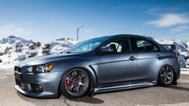 2008-2015 Mitsubishi Lancer Evolution (10) Air Lift Kit with Manual Air Management - side view