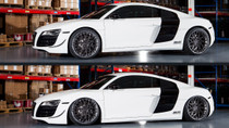 2008-2015 Audi R8 Air Lift Kit with Manual Air Management - up and down view
