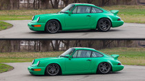 1989-1990 Porsche 911 Air Lift Kit with Manual Air Management  - up and down view
