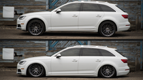 2017-2018 Audi B9 Platform(53mm) Air Lift Kit with Manual Air Management w NO SHOCKS - up and down view
