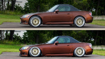 2000-2009 Honda S2000 Air Lift Kit with Manual Air Management - vehicle up and down view