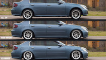 2004-2006 Infiniti G35X Air Lift Kit with Manual Air Management - up and down view