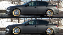 2007-2013 Infiniti G35x/G37x Air Lift Kit with Manual Air Management - vehicle up and down view
