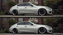 2014-2019 Infiniti Q50 RWD Air Lift Kit with Manual Air Management - vehicle up and down view