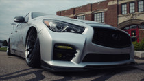 2014-2019 Infiniti Q50/Q60/Q70-AWD Air Lift Kit with Manual Air Management - vehicle nose view