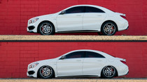 2012-2019 Mercedes & Infiniti Air Lift Kit with Manual Air Management w/ NO SHOCKS - vehicle up and down view