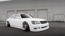 1989-2000 Lexus LS 400 Air Lift Kit with Manual Air Management - vehicle passenger side view