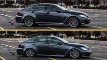 2006-2014 Lexus IS/ISF RWD/GS RWD Air Lift Kit with Manual Air Management - vehicle up and down view
