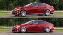 2006-2013 Lexus IS/GS AWD Air Lift Kit with Manual Air Management - vehicle up and down view