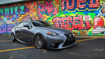2013-2019 Lexus IS/GS/RC RWD Air Lift Kit with Manual Air Management - vehicle passenger side front view
