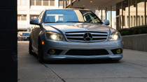 2008-2015 Mercedes C-Class (W204)(RWD) Air Lift Kit with Manual Air Management- nose view