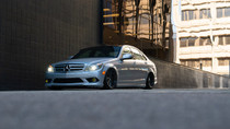 2008-2015 Mercedes C-Class (W204)(RWD) Air Lift Kit with Manual Air Management w/ NO SHOCKS- front view