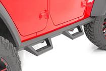 Jeep Contoured Drop Steps (2018 Wrangler JL Unlimited   4- Door) - mounted view
