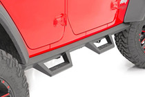 Jeep Contoured Drop Steps (2018 Wrangler JL Unlimited | 4- Door) - mounted view